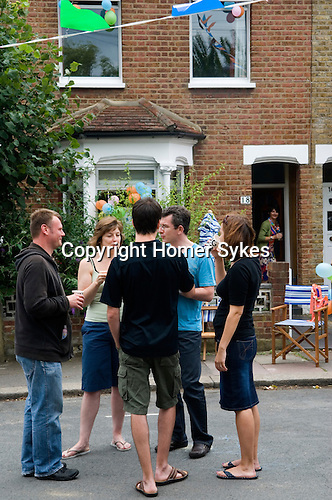 Street Party The Big Lunch The Eden Project Brunswick Street Walthamstow Village London E17 England