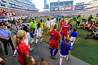 PHILADELPHIA, PA - AUGUST 29: Pre-game walkout prior to a game between Portugal and USWNT at Lincoln Financial Field on August 29, 2019 in Philadelphia, PA.