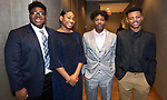 WATERBURY ,  CT-101219JS41-  Nacho Vincent, 17; Asia Chapman, 16; 2019 Youth President of Waterbury NAACP Amari Brantly, 17 and Brandon Pittman, 17, at the NAACP of Greater Waterbury's 55th annual Mind Body and Soul Freedom Fund Dinner held Saturday at the Courtyard Marriott in Waterbury. <br />  Jim Shannon Republican-American