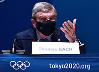 17th July 2021, TOKYO, JAPAN:  International Olympic Committee IOC President Thomas Bach attends an IOC Executive Board Briefing at the Main Press Center MPC of Tokyo