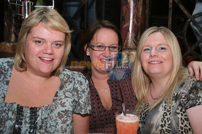 Stephanie White, Pamela Richardson and Georgia Edwards in Shooters...Photo NEWSFILE/Jenny Matthews.(Photo credit should read Jenny Matthews/NEWSFILE)....This Picture has been sent you under the condtions enclosed by:.Newsfile Ltd..The Studio,.Millmount Abbey,.Drogheda,.Co Meath..Ireland..Tel: +353(0)41-9871240.Fax: +353(0)41-9871260.GSM: +353(0)86-2500958.email: pictures@newsfile.ie.www.newsfile.ie.FTP: 193.120.102.198.