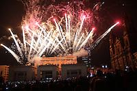 BOGOTA -COLOMBIA , 16- DICIEMBRE-2016. Espectáculo Fiesta de las Luces de Lyon Francia que dan inicio a la novena de Navidad para los católicos colombianos. Photo: VizzorImage / Felipe Caicedo / Staff