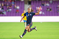 ORLANDO CITY, FL - FEBRUARY 21: Sophia Smith #17 of the USWNT running towards the ball during a game between Brazil and USWNT at Exploria Stadium on February 21, 2021 in Orlando City, Florida.