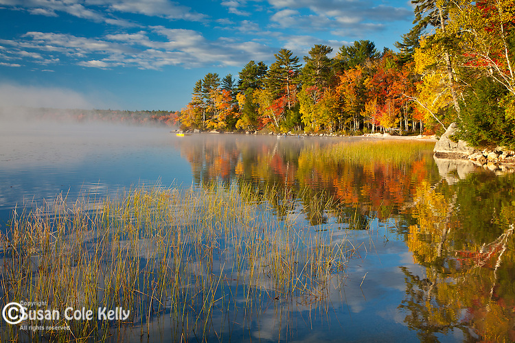 Autumn on Patten Pond, Ellsworth, ME, USA