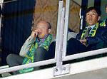 Nederland, Den Haag, 27 september 2015<br /> Eredivisie<br /> Seizoen 2015-2016<br /> ADO Den Haag-Excelsior (3-3)<br /> De nieuwe assistent-trainer Gao Hongbo zit samen met eigenaar Hui Wang (l.) op de tribune