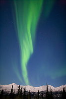 Aurora borealis over the Brooks Range, south of coldfoot, Alaska.