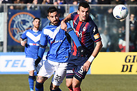 Luca Tremolada-Vladimir Golemic<br /> Brescia 23-02-2019 <br /> Football Serie B 2018/2019 Brescia - Crotone <br /> Foto Image Sport / Insidefoto
