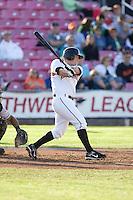 July 7, 2009: Salem-Keizer Volcanoes' Joel Weeks at-bat during a Northwest League game against the Tri-City Dust Devils at Volcanoes Stadium in Salem, Oregon.