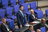 """Sitzung des Deutschen Bundestag am Donnerstag den 19. April 2018.<br /> Im Bild stehend: Jan  Ralf Nolte, Abgeordneter der rechtsnationalistischen """"Alternative fuer Deutschland"""", AfD, nimmt Stellung zu den Vorhaltungen aus dem Plenum, er wuerde einen Rechtsextremisten als Angestellten beschaeftigten, der Aufgrund seiner rechtsextremen Umtriebe keine Sicherheitsfreigabe des Deutschen Bundestag und somit auch keine Zugangsberechtigung zum Bundestag bekommen hat.<br /> 19.1.2018, Berlin<br /> Copyright: Christian-Ditsch.de<br /> [Inhaltsveraendernde Manipulation des Fotos nur nach ausdruecklicher Genehmigung des Fotografen. Vereinbarungen ueber Abtretung von Persoenlichkeitsrechten/Model Release der abgebildeten Person/Personen liegen nicht vor. NO MODEL RELEASE! Nur fuer Redaktionelle Zwecke. Don't publish without copyright Christian-Ditsch.de, Veroeffentlichung nur mit Fotografennennung, sowie gegen Honorar, MwSt. und Beleg. Konto: I N G - D i B a, IBAN DE58500105175400192269, BIC INGDDEFFXXX, Kontakt: post@christian-ditsch.de<br /> Bei der Bearbeitung der Dateiinformationen darf die Urheberkennzeichnung in den EXIF- und  IPTC-Daten nicht entfernt werden, diese sind in digitalen Medien nach §95c UrhG rechtlich geschuetzt. Der Urhebervermerk wird gemaess §13 UrhG verlangt.]"""