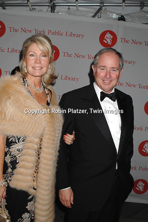 Christine and Stephen Schwarzman ..arriving at The New York Public Library 2007 Library Lions Benefit on November 5, 2007. Martin Scorsese, Tom Stoppard Jhumpa Lahiri and John Hope Franklin were honored. ..Robin Platzer, Twin Images....212-935-0770