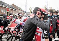 Caleb Ewan (AUS/Lotto-Soudal) wins the 108th Scheldeprijs 2020 (1.Pro) & is congratulated after the finish<br /> <br /> 1 day race from Schoten to Schoten BEL (173km)<br /> <br /> ©kramon