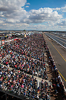 Feb 23, 2020; Chandler, Arizona, USA; Overall view of NHRA fans in the grandstands during the Arizona Nationals at Wild Horse Pass Motorsports Park. Mandatory Credit: Mark J. Rebilas-USA TODAY Sports