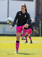 Noemie Fourdin (11) of Sporting Charleroi pictured during a female soccer game between Eendracht Aalst and Sporting Charleroi on the third matchday of play off 2 of the 2020 - 2021 season of Belgian Scooore Womens Super League , Saturday 24 th of April 2021  in Aalst , Belgium . PHOTO SPORTPIX.BE | SPP | KRISTOF DE MOOR
