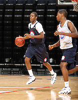 Isaiah Epps handles the ball during the 2009 NBPA Top 100 Basketball Camp held Friday June 17- 20, 2009 in Charlottesville, VA. Photo/ Andrew Shurtleff