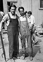 Dr. Stephen S. Wise, Rabbi of the Free Synagogue, has become a laborer in the shipbuilding yards of the Luder Marine Construction Co., at Stanford, Conn., together with his eighteen years old son.  July 1918.  Underwood & Underwood. (War Dept.)<br />Exact Date Shot Unknown<br />NARA FILE #:  165-WW-420-P323<br />WAR & CONFLICT BOOK #:  502