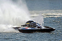 """Jay Gignac, GNH-55 """"Gi Wizz"""" (Grand National Hydroplane(s) <br /> ••• Showing damage on the top front of the right sponson just before the left sponson lets go •••"""