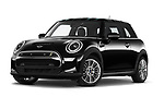 Stock pictures of low aggressive front three quarter view of 2021 MINI Mini-Electric Cooper-SE-Edition-mosaert 3 Door Hatchback Low Aggressive