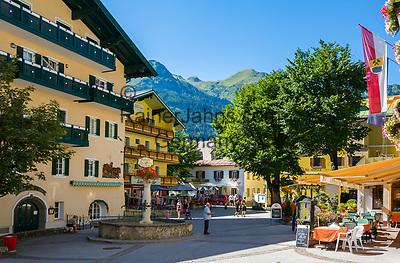 Oesterreich, Salzburger Land, Pongau, Gasteinertal, Kurort Bad Hofgastein: Ortszentrum   Austria, Salzburger Land, Pongau region, Bad Hofgastein: village centre