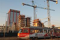 - Milan, building yard in the Lorenteggio district....- Milano, cantiere edile nel quartiere Lorenteggio....