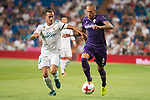 Real Madrid's Lucas Vazquez and Fiorentina's Cristiano Biraghi during XXXVIII Santiago Bernabeu Trophy at Santiago Bernabeu Stadium in Madrid, Spain August 23, 2017. (ALTERPHOTOS/Borja B.Hojas)
