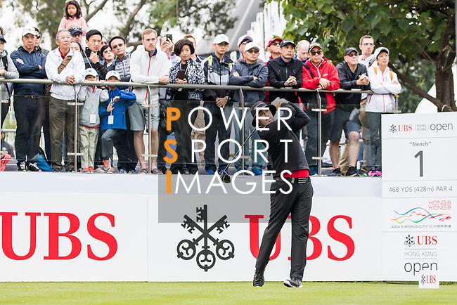 Ryan Evans of England tees off during the day three of UBS Hong Kong Open 2017 at the Hong Kong Golf Club on 25 November 2017, in Hong Kong, Hong Kong. Photo by Yu Chun Christopher Wong / Power Sport Images