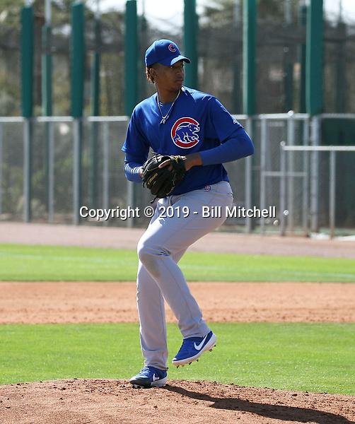 Yovanny Cruz - Chicago Cubs 2019 spring training (Bill Mitchell)