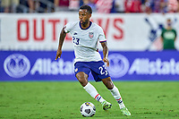 5th September 2021; Nashville, TN, USA;  United States midfielder Kellyn Acosta cpmes forward on the ball during a CONCACAF World Cup qualifying match between the United States and Canada on September 5, 2021 at Nissan Stadium in Nashville, TN.