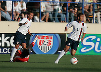 Jesse Marsch looks on as Kamani Hill holds the ball. The USA defeated China, 4-1, in an international friendly at Spartan Stadium, San Jose, CA on June 2, 2007.