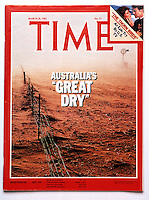 """Cover of Time Magazine  by Gunther Deichmann - Australia's """"Great Dry"""""""