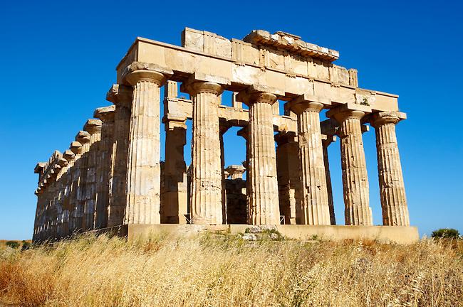 Greek Dorik Temple ruins of Temple F at Selinunte, Sicily