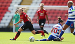 Kirsty Hanson of Manchester United Women and Lauren Bruton of Reading