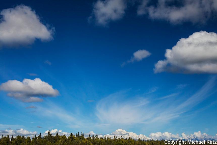Alaska Range and Clouds
