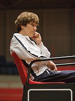The Netherlands, Den Bosch, 16.04.2014. Fed Cup Netherlands-Japan, Team Medical Doctor, Babette Pluim (NED)<br /> Photo:Tennisimages/Henk Koster