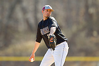 County College of Morris Titans starting pitcher Steven Houghtaling (20) in action against the SUNY Sullivan Generals on the campus of County College of Morris on April 9, 2013 in Randolph, New Jersey.  The Titans defeated the Generals 12-4.  (Brian Westerholt/Four Seam Images)