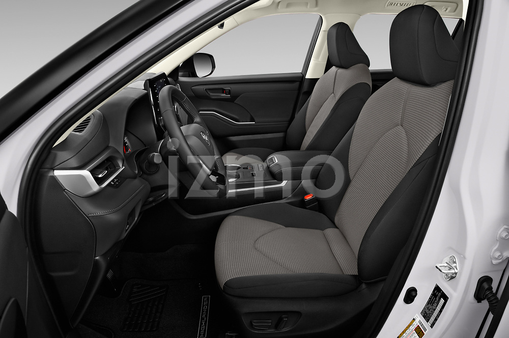 Front seat view of a 2020 Toyota Highlander LE 5 Door SUV front seat car photos