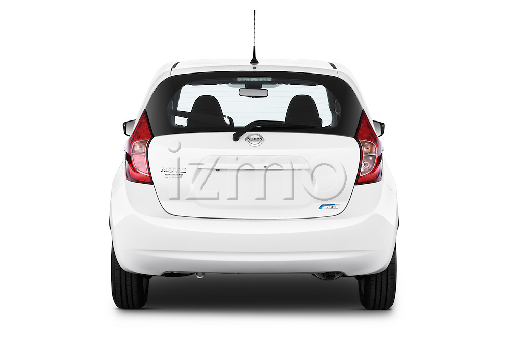 Straight rear view of a 2013 Nissan NOTE 5 Door Hatchback 2WD