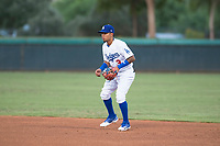 AZL Dodgers second baseman Kenneth Betancourt (3) during an Arizona League game against the AZL White Sox at Camelback Ranch on July 3, 2018 in Glendale, Arizona. The AZL Dodgers defeated the AZL White Sox by a score of 10-5. (Zachary Lucy/Four Seam Images)