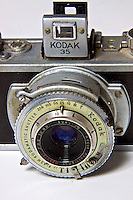 A Kodak 35 Vintage Camera photograqphed in the studio.  (Photo by Brian Cleary/www.bcpix.com)