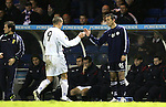Rangers v St Johnstone....08.11.06   CIS Cup Quarter Final.Steven Milne is congratulated by Owen Coyle as he is substituted.Picture by Graeme Hart..Copyright Perthshire Picture Agency.Tel: 01738 623350  Mobile: 07990 594431