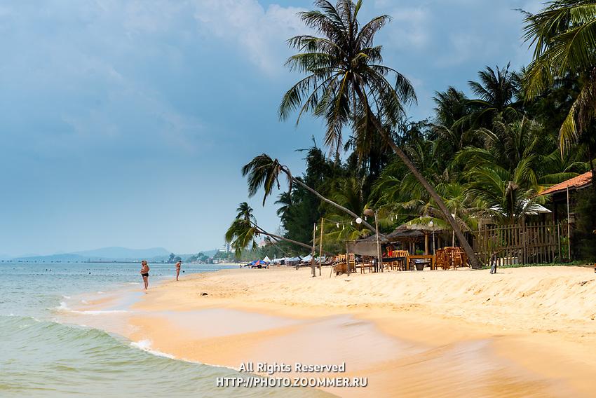 Long Beach sand in Phu Quoc island, Vietnam