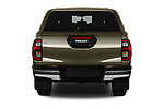 Straight rear view of 2021 Toyota Hilux Invincible 4 Door Pick-up Rear View  stock images
