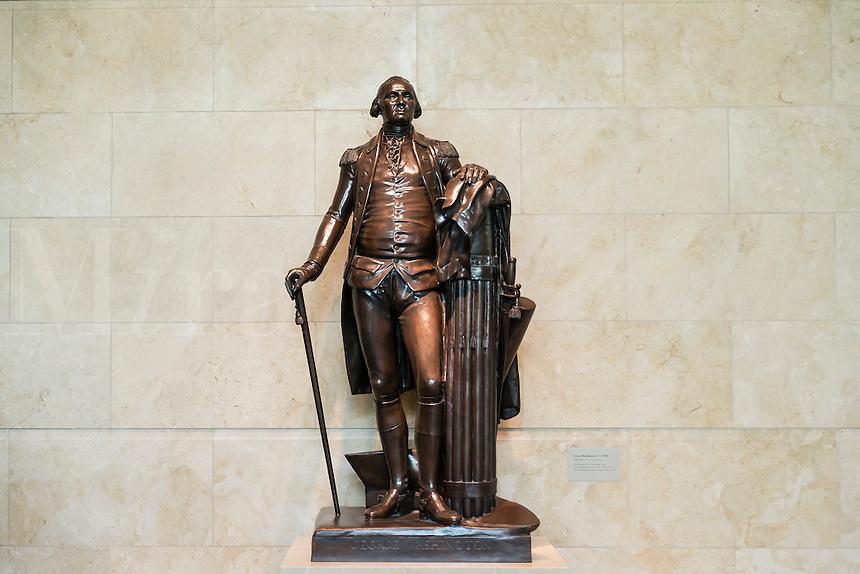 Bronze sculpture of George Washington at visitors center at Mt Vernon, Virginia, USA