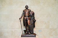 Bronze sculpture of George Washington at visitors center at Mt Vernon, Virginia, USA