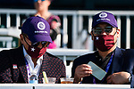 November 7, 2020 : Attendees watch the races from the grandstand on Breeders' Cup Championship Saturday at Keeneland Race Course in Lexington, Kentucky on November 7, 2020. Scott Serio/Eclipse Sportswire/Breeders' Cup/CSM