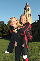 STANFORD, CA - OCTOBER 28:  Michelle Moore and Corinne Smith during picture day on October 28, 2009 in Stanford, California.