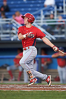 Williamsport Crosscutters third baseman Evan Rogers (38) at bat during a game against the Batavia Muckdogs on September 2, 2016 at Dwyer Stadium in Batavia, New York.  Williamsport defeated Batavia 9-1. (Mike Janes/Four Seam Images)