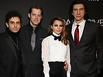 "Brandon Uranowitz, David Furr, Keri Russell and Adam Driver attends the Broadway Opening Celebration for Landford Wilson's ""Burn This""  at Hudson Theatre on April 15, 2019 in New York City."