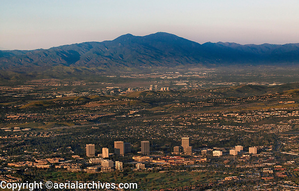 aerial photograph of Costa Mesa, Orange County, California