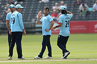 Ryan ten Doeschate of Essex celebrates with his team mates after taking the wicket of Tom Lace during Gloucestershire vs Essex Eagles, Royal London One-Day Cup Cricket at the Bristol County Ground on 3rd August 2021