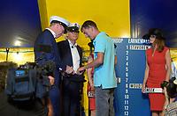 ZEILSPORT: GROU: 03-08-2018, Loting SKS Skûtsjesilen, schipper Sneker Pan Jappie Visser, ©foto Martin de Jong